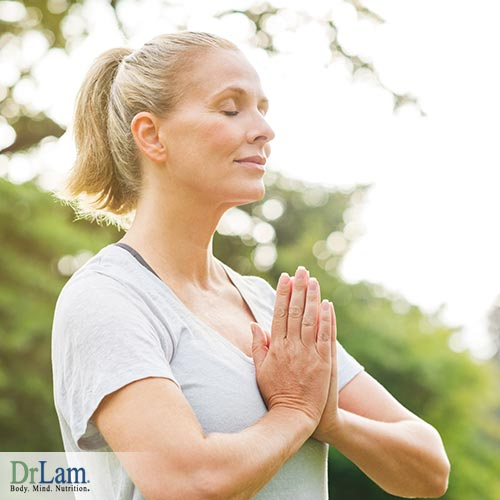 A woman with healthy mind-body and spiritual after having chakra healing foods