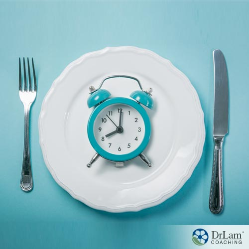 A clock on a plate, depicting intermittent fasting and fad dieting