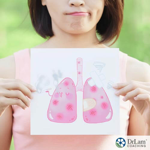 picture of woman showing declining lung function and unhealthy lungs