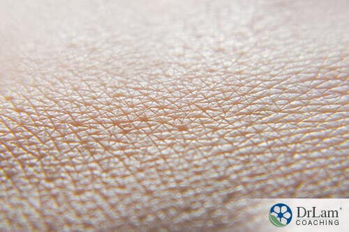 A close up of human skin benefiting from colostrum