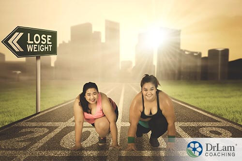 2 woman racing to lose weight, a new-onset AFib risk factor