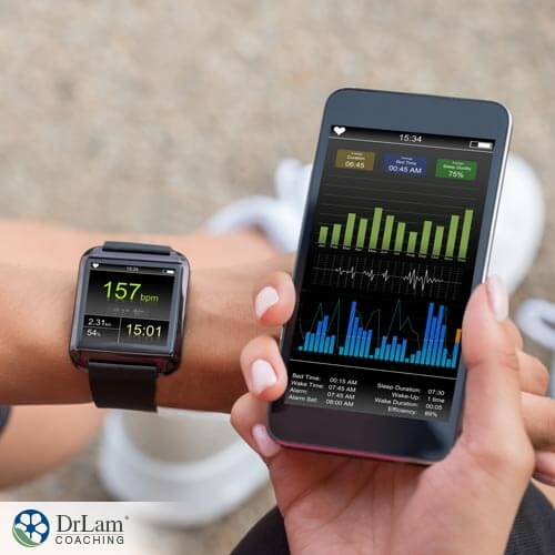Health tech on display such as watches and phone applications