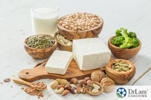 an image with a variety of beans and high protein vegetarian food