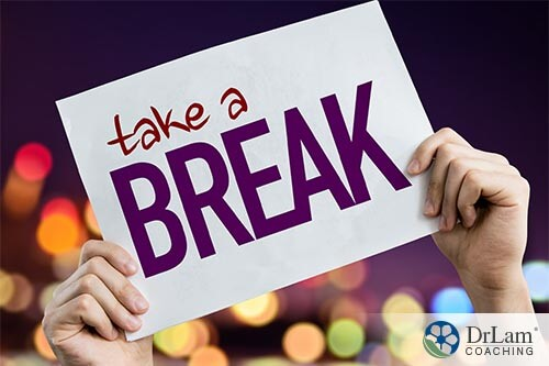 take a break from workplace stress sign