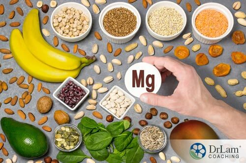 an assortment of magnesium rich foods for adrenal fatigue supplements