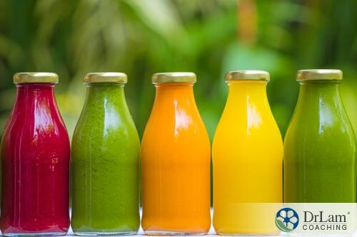 Different bottles of juices that contain best sources of Vitamin C