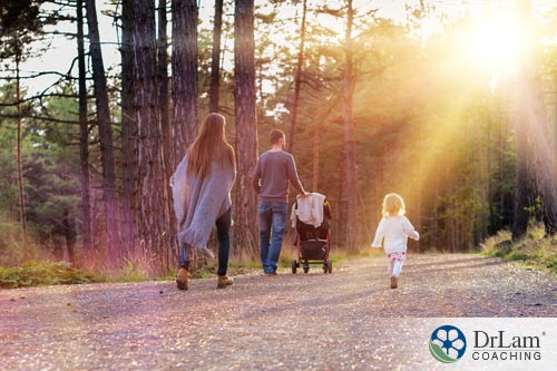 a young family restoring their work-life balance