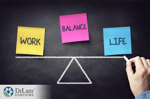 a man with a leveled work-life balance