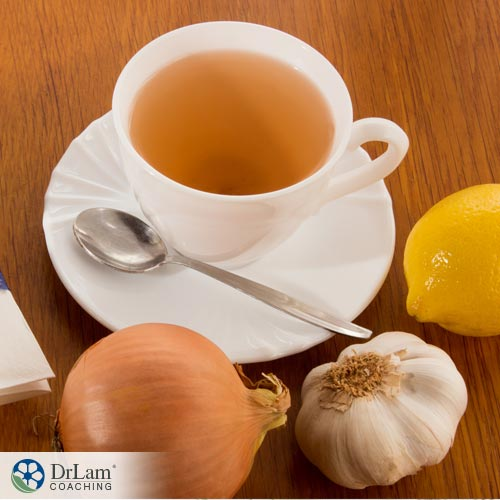 Garlic tea benefits help with cold and flu.