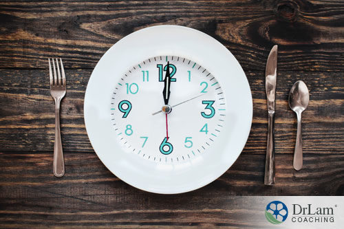 An image of a white plate with a clock on it, surrounded by cutlery