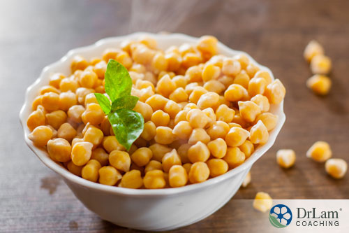 An image of a bowl of chickpeas