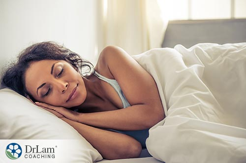 Young woman sleeping well in bed from Cellular detoxing