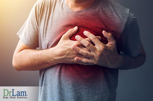 Chest pain from a glutamate sensitivity