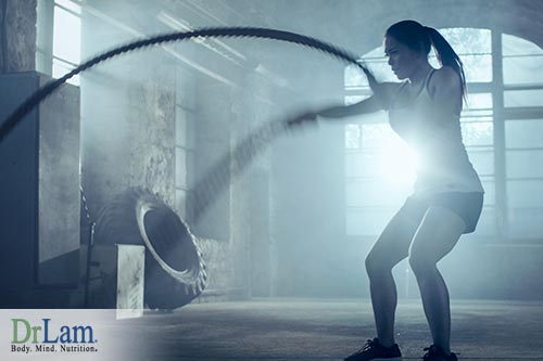 High-intensity movement in CrossFit exercising