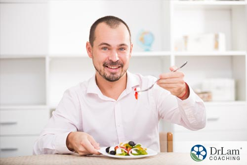 A man enjoying Mediterranean diet