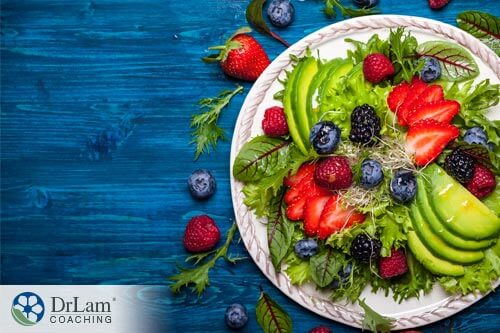 a salad is part of a health adrenal fatigue diet and helps with fertility supplements