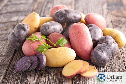 Anthocyanins and healthier mashed potatoes