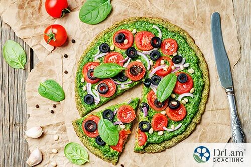Using zucchini in making healthy pizza