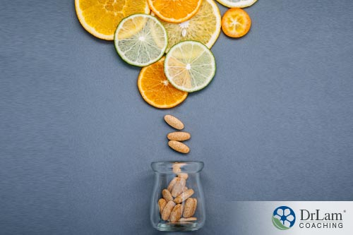 A bottle of vitamin C to boost the immune system