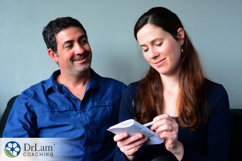 A couple relieved from stress because of list making
