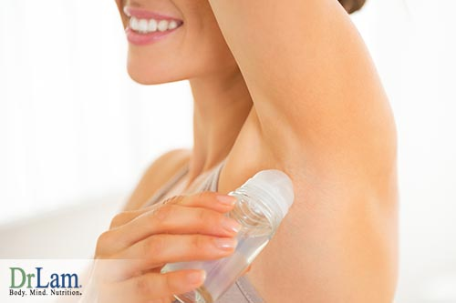 To reduce toxins try a natural antiperspirant