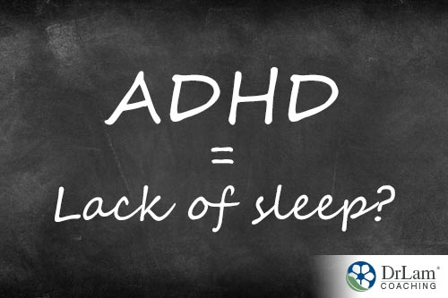 Black board showing sleep disorders and ADHD being related