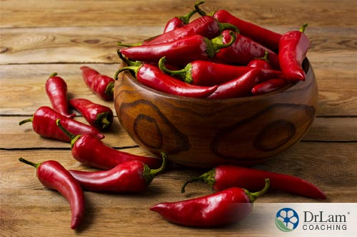 Capsaicin in spicy foods