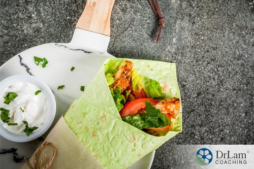 Avoiding healthy foods: Spinach wraps
