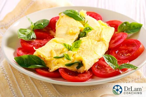picture of scrambled eggs giving carotenoid benefits