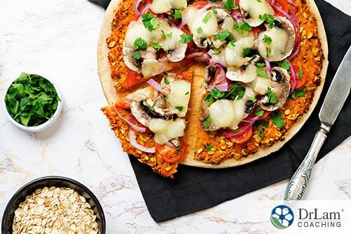 Ingredients to make healthy pizza