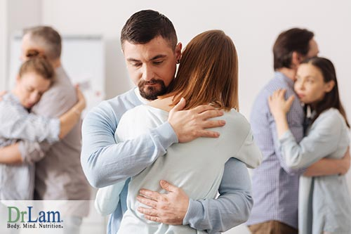Hug therapy to reduce infections and lower stress