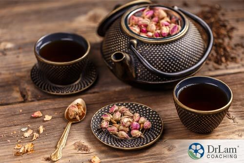 picture of a tea set with tea and epigenetics