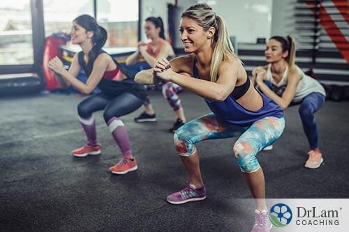 happy woman exercising with vitamin d and ibs