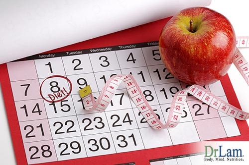 A food schedule with Intermittent fasting
