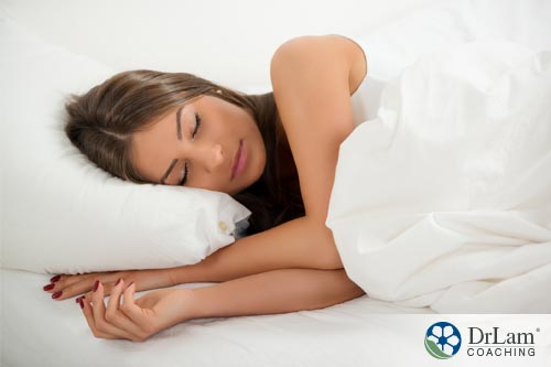 A woman improving sleep quality to support her Autonomic Nervous System