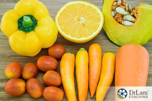 carotenoid benefits are found in many brightly colored vegetables