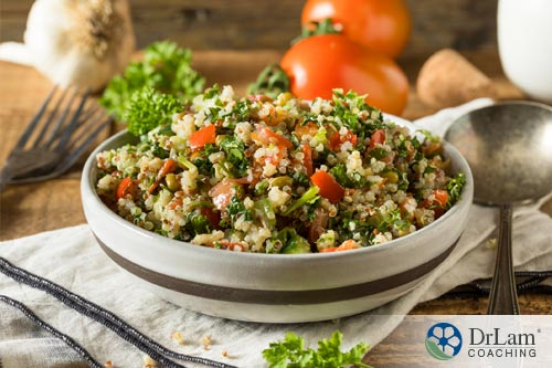 Eating good grains like quinoa is suggested in integrative and functional medicine