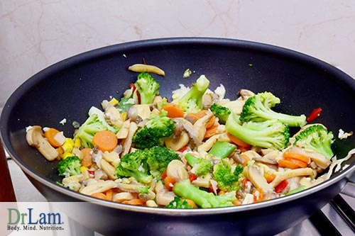 Vegetable stir-frys, mushrooms and hunger