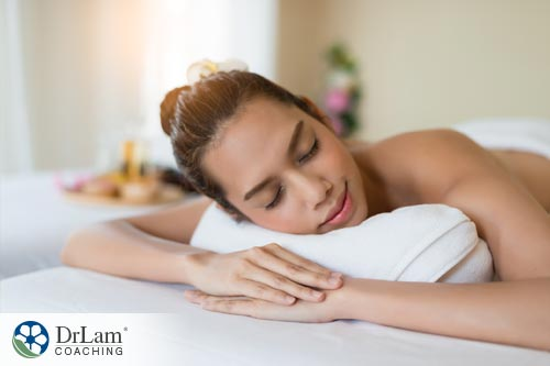 A woman feeling sleepy while having reflexology