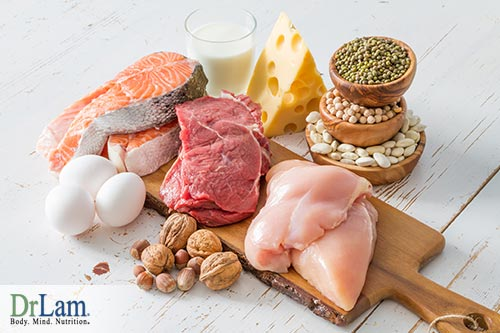 Improving the thyroid gland function with protein