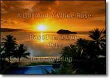 A Doll and White Rose