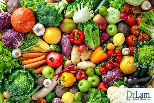 Inflammatory foods, fruits and vegetables