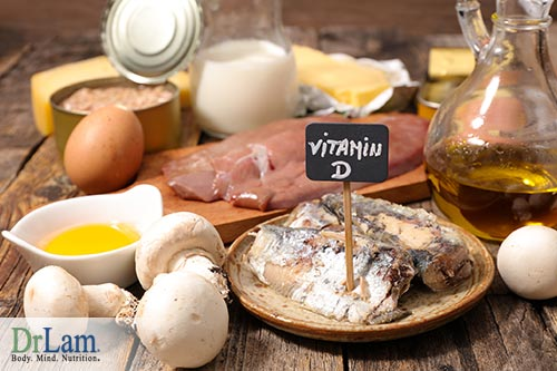 Low vitamin D levels and food that are rich in Vitamin D