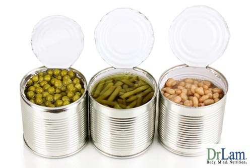 About natural medicine and processed/canned foods