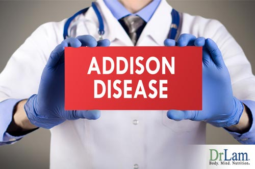 Addison's disease is also adrenal gland insufficiency