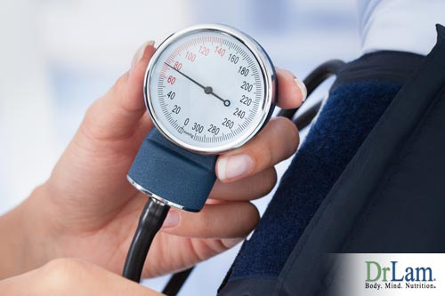 A sphygmomanometer checking for low blood pressure in adrenal fatigue/