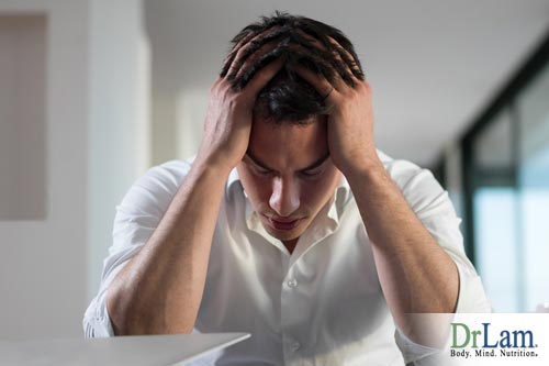 A man suffering from adrenal fatigue and excessive tiredness