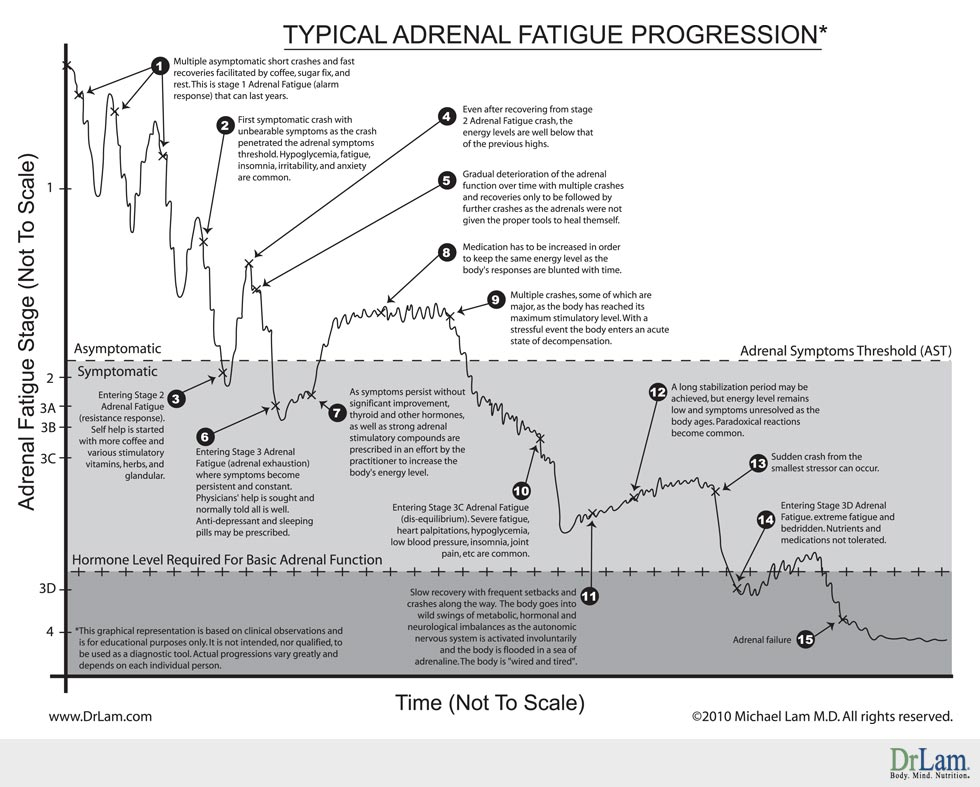 Adrenal Fatigue Data Progression Chart