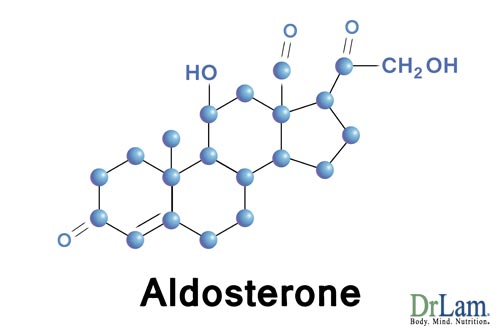 Aldosterone is a molecule produced by your adrenal glands and depleted during Adrenal Fatigue Syndrome