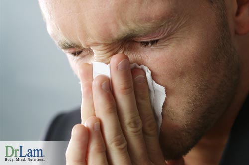 Symptoms of exhaustion and stress can include changes in you body that make you more susceptible to allergies and sensitivities.